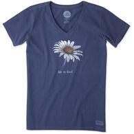 Life is Good Women's Daisy Crusher Vee Short-Sleeve Shirt