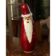 Meadowbrooke Gourds Medium Tall Lit Santa Gourd