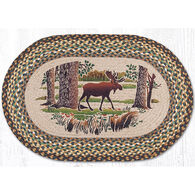 Capitol Earth Oval Patch Moose Forest Rug