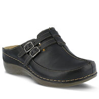 Spring Footwear Women's Happy Two Buckle Leather Clog