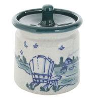 "Great Bay Pottery Handmade Ceramic 4"" Sugar Bowl"