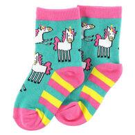 Lazy One Infant Girl's Unicorn Sock
