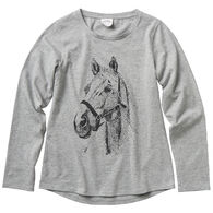 Carhartt Girl's Horse Print Long-Sleeve Shirt