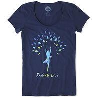 Life is Good Women's Radiate Love Smooth Short-Sleeve T-Shirt
