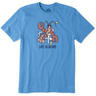 Life is Good Men's Lobster Adirondack Crusher Short-Sleeve T-Shirt