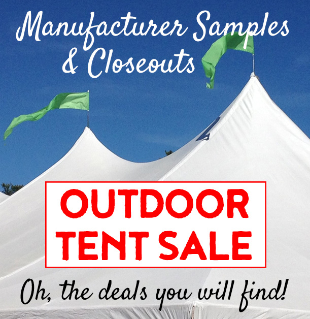 Outdoor Seasonal Tent Sale